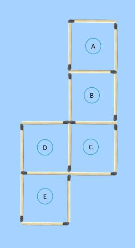 5 square to 4 square matchstick puzzle for second solution