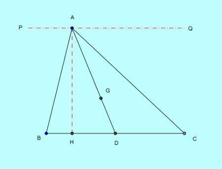 Basic and rich Geometry concepts part 6-1 triangle area division by median proof