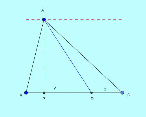 Basic and rich Geometry concepts part 6-2 area to base division ratio proof