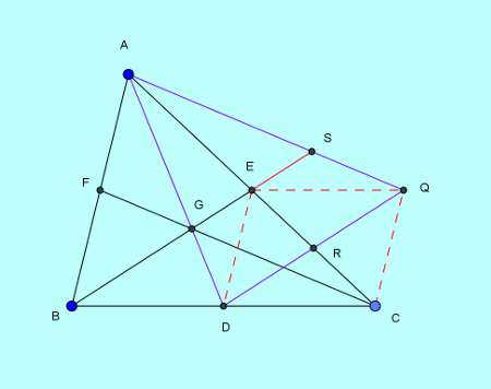 Basic and rich Geometry concepts part 6-5 area of triangle from medians proof