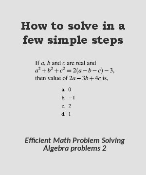 How to solve algebra problems in a few simple steps 2