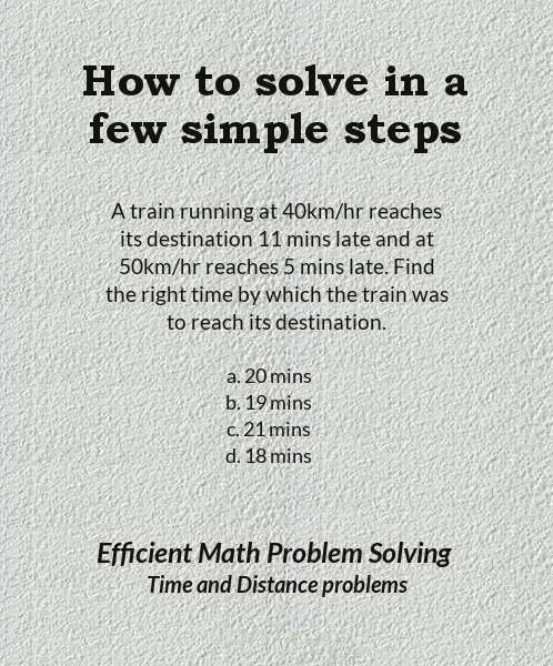 How to solve time and distance problems in a few simple steps 1