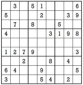 Sudoku second level game 6-1