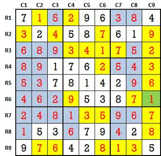 Sudoku second level game 8-3-solved