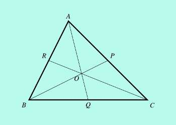 centroid intersection of medians