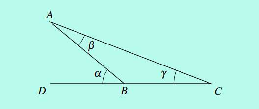 external internal angle relation