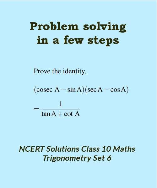 ncert solutions class 10 maths trigonometry set 6
