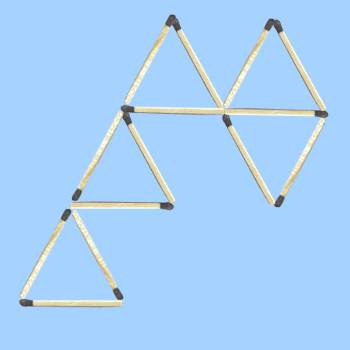six triangle matchstick puzzle 1 solution 2