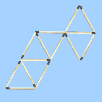 six triangle matchstick puzzle 1