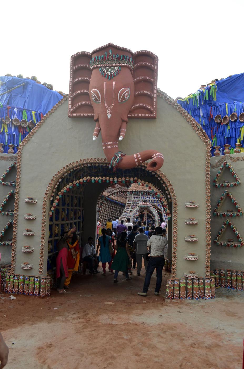 Deva Ganesha invites, Kolkata Durga Puja 2015