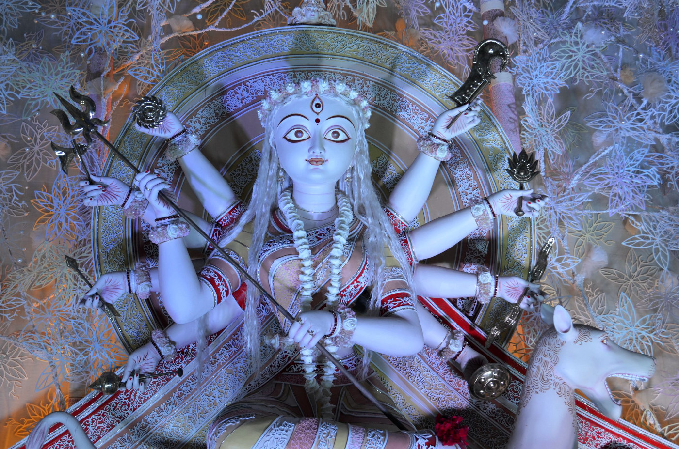 Devi exuding empathy, Kolkata Durga Puja 2015